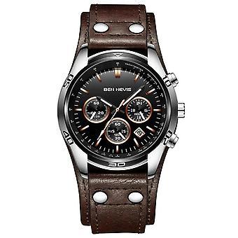 Zegarki wojskowe Skórzany zegarek na rękę Zegarek kwarcowy