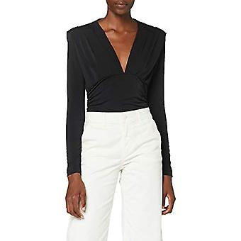 Sisley V Neck Sweater L/S T-Shirt, Schwarz 100, XS Woman