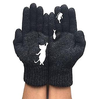 Winter Warm Cold Cashmere Voller Finger Handschuhe