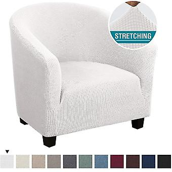 Spandex Coffee Tub Sofa Armchair Seat Cover Protector Washable Furniture Slipcover (white)