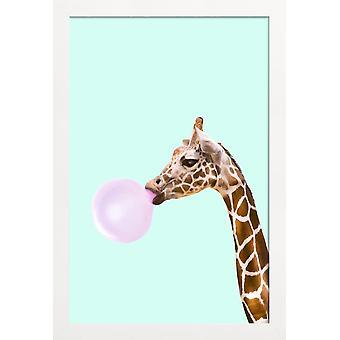 JUNIQE Print - Giraffe - Giraffe Poster in Brown & Pink