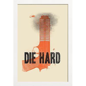 JUNIQE Print - The hard - Movies Poster in Orange & Black