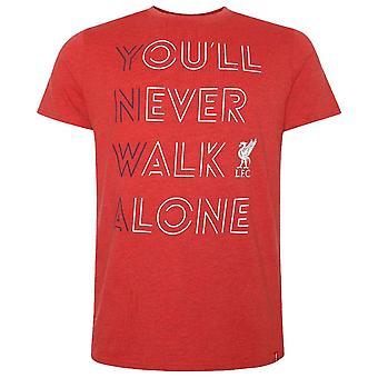 Liverpool FC Mens et koskaan kävellä yksin T-paita