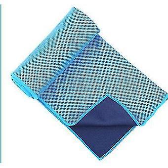 مناشف التبريد الزرقاء الداكنة للرياضيين كخرق باردة لالتفاف تبريد الرقبة x5404