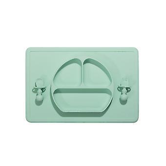 Green smiley plaque de silicone une pièce plaque pour enfants antidérapante dt7803