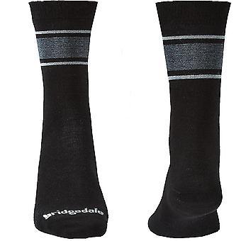Bridgedale EVERYDAY Sock / Liner Merino Performance Mens - Medium Black / Lt Grey