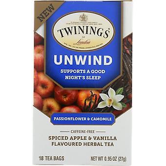 Twining Tea Tea Unwind Spcd Aple Vani, Case of 6 X 18 Bags