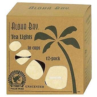 Aloha Bay Candle Glass Tea, Light Cream, 12/0.7 Oz