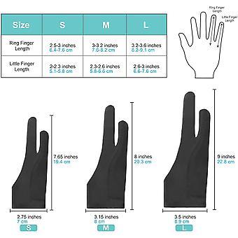 Zeichenhandschuh [2 Stück] Antifouling-Handschuh, Anti Misstouch, Elastische Handschuhe für
