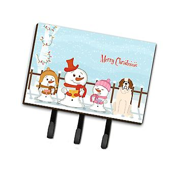 Caroline'S Treasures Christmas Carolers Merry Saint Bernard Leash Or Key Holder Bb2366Th68, Triple