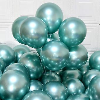 Party Luftballons 12 Zoll 50 Stück Latex Metallic Luftballons Chrom Geburtstag Luftballons Glänzende