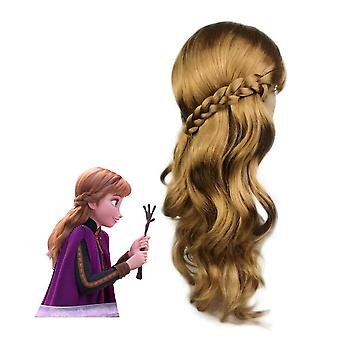Anna Anime Perruques Disney Cosplay Perruques de cheveux synthétiques
