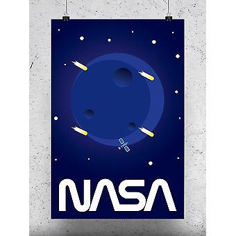 Moon And Stars Poster - NASA Designs
