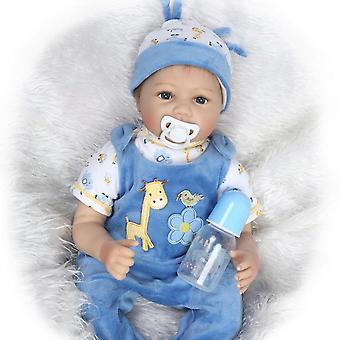 تولد من جديد دمى الطفل دوكا Mjukt Silikon 22 '' / 55cm نابض بالحياة طفلة حديث الولادة دمية فتاة هدية