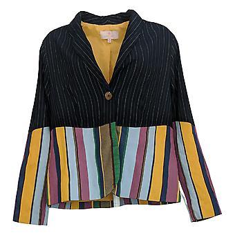 Laurie Felt Women's Double Striped Blazer Blue A377072