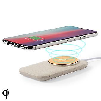 Langaton Qi-laturi USB-porteilla 146536 Bambu Vehnä olki Abs