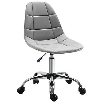 Vinsetto Ergonomic Office Chair with Adjustable  Height and Wheels Velvet Executive Chair Armless for Home Study Bedroom Grey