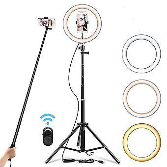 Selfie Ring Light Dimmable Trepied Stand - Suport telefon mobil pentru video