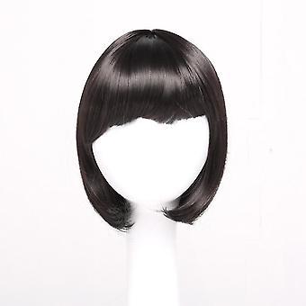 Hair Girl Kurze glatte Haare Bobo Kopf Full Bangs Kurze Haare Kopfbedeckung
