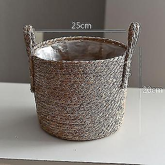 Baskets handwoven rattan storage basket for household and decor c