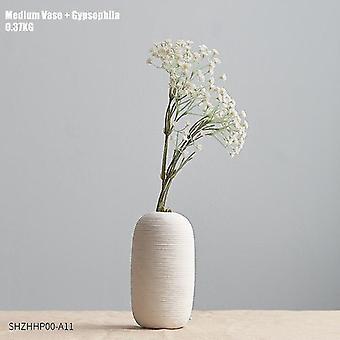 Keramikvaser i nordisk stil med blomkombinationer(kombination 3)