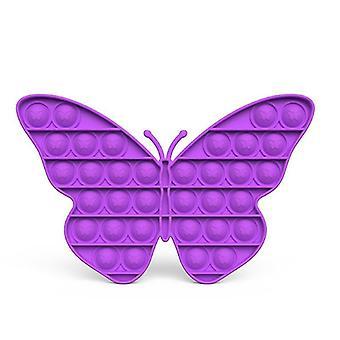 Pop it fidget sensorische Spielzeug Linderung für Stress und Angst (R - Lila)