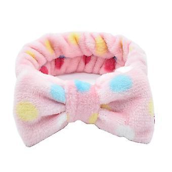 6PCS Coral Fleece Soft Headband Cross Top Kont Hairband Elastik band for kvinder Piger Wash Face
