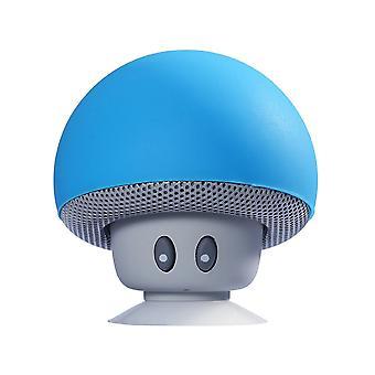 Mini haut-parleur de style champignon avec ventouse pour téléphones mobiles et tablet PC