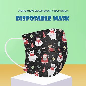 Jul vuxen mask engångs ansiktsmask industriell 3ply öronslinga