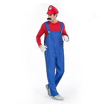 Adult Mens Super Mario Bros Fancy Dress Cosplay Costume