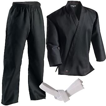 Century 7 oz. Middleweight Student Uniform with Elastic Pant - Black - kimono