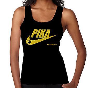 Pokemon Pikachu Nike Logo Pika Just Catch Em Women's Vest
