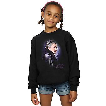 Star Wars Girls The Last Jedi Leia Brushed Sweatshirt