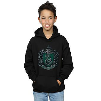 Harry Potter Boys Slytherin Distressed Crest Hoodie