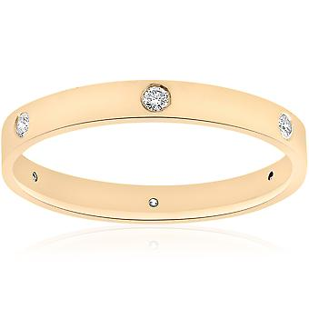 14 k Gelb Gold Diamond Ewigkeit Hochzeit Jahrestag Ring Womens poliert Band