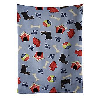 Toalha de cozinha cachorro casa coleção Scottish Terrier