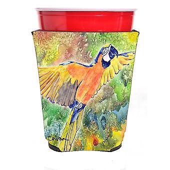 Carolines Treasures  8602RSC Parrot Head Red Solo Cup Hugger