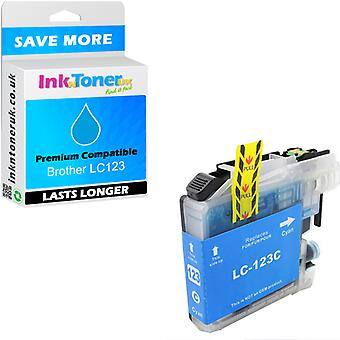 Compatible Brother LC123 Cyan LC123C Cartridge pour Brother MFC-J470DW