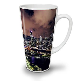 Night Metropolis NEW White Tea Coffee Ceramic Latte Mug 12 oz | Wellcoda