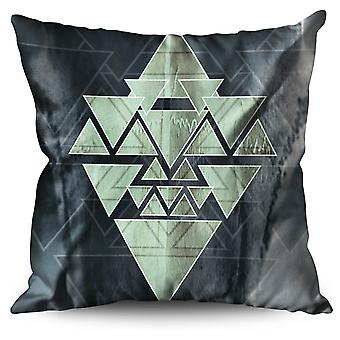 Occult Triangle Linen Cushion 30cm x 30cm | Wellcoda