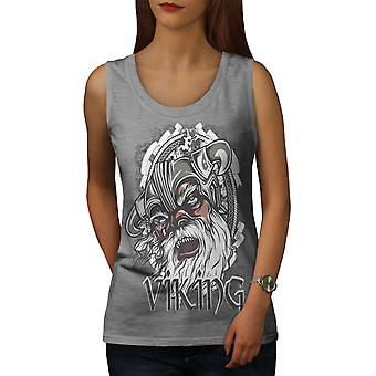 North Warrior Fantasy Women GreyTank Top | Wellcoda