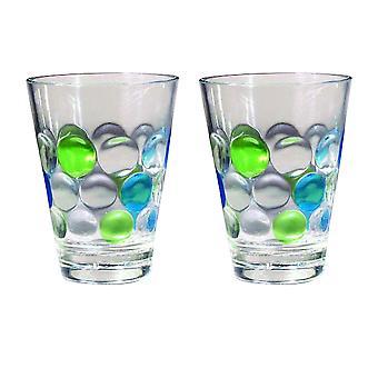 Bobler polycarbonat glas (sæt af to)