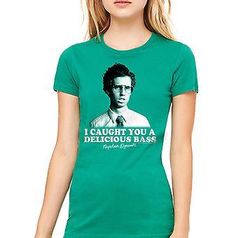 Napoleon Dynamite Bass Women's Kelly Green Funny T-shirt