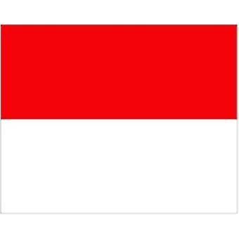 Monaco vlag 5 ft x 3 ft met oogjes voor verkeerd-om