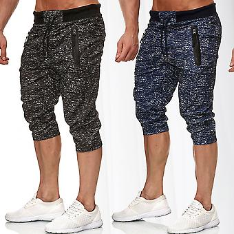 Mens Sweatpants Short Sport Bermuda Elastic Waistband Jogger Sweat Pant Mottled