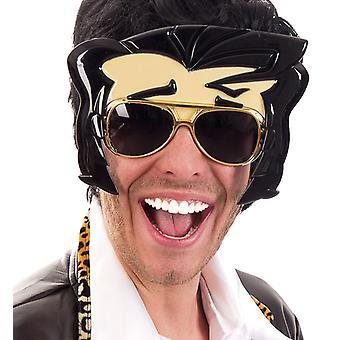 Brille Rockstar Elvis Scherzartikel Verkleidung Accessoire