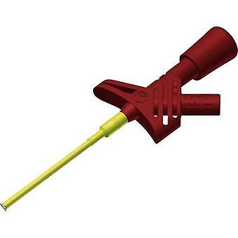 SKS Hirschmann KLEPS 1600 Zacisk bezpieczeństwa 2 mm złącze jack CAT II Red