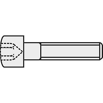 TOOLCRAFT 888022 Allen screws M1.4 6 mm Hex socket (Allen) DIN 912 ISO 4762 Steel 8.8. grade black 1 pc(s)