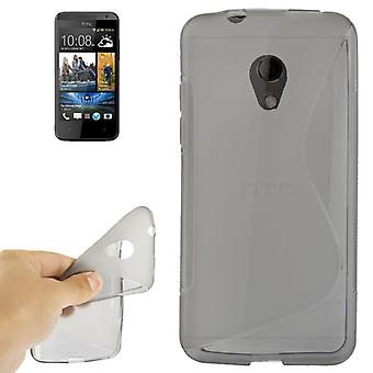 Mobile case TPU protective case for cell phone HTC desire 700 grey