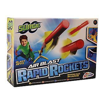 Aumento ar explosão rápida foguete com giro Multi objetivo lançador e almofada de explosão do ar